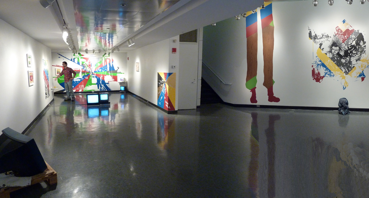 Pleathers, 2010, exhibition view at Huret Gallery, Emerson College, Boston
