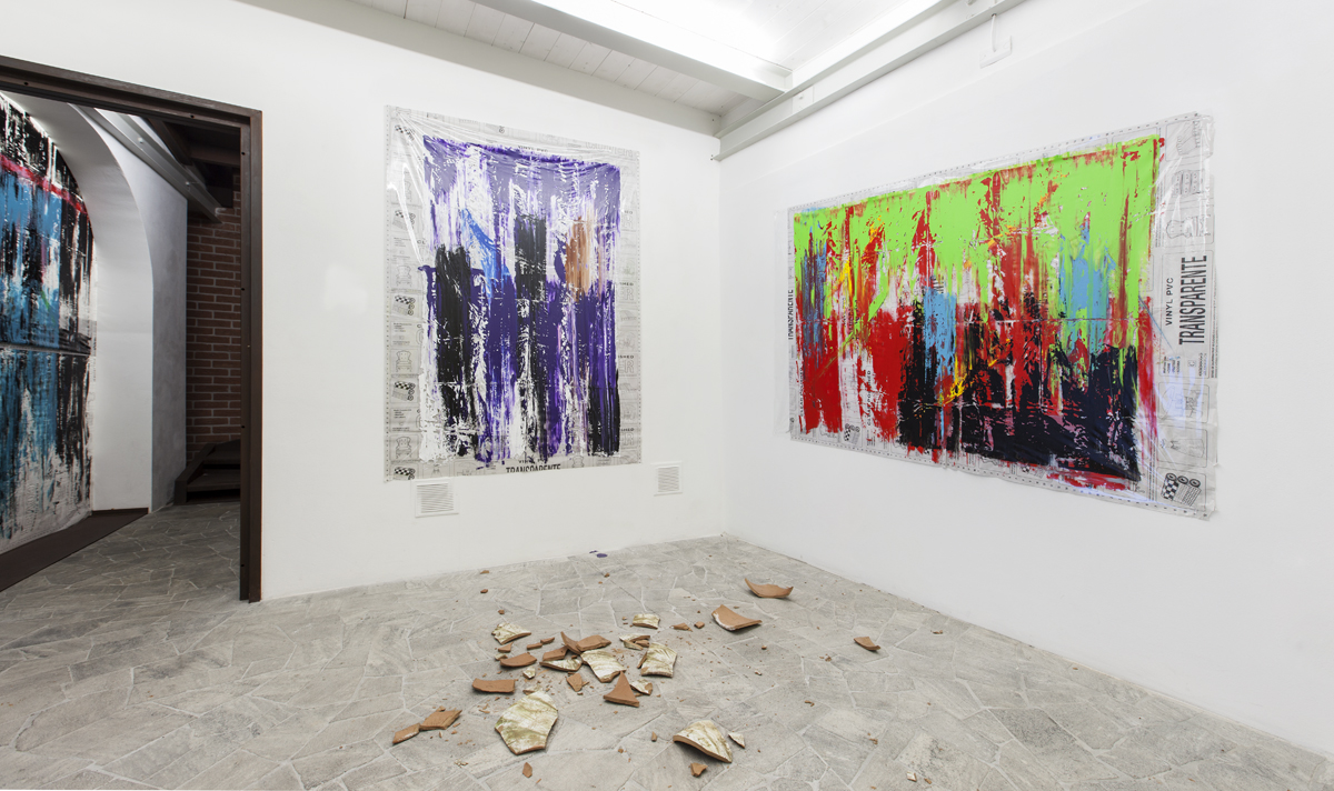 Through painting, 2015, exhibition view at Fondazione Rivolidue, Milano