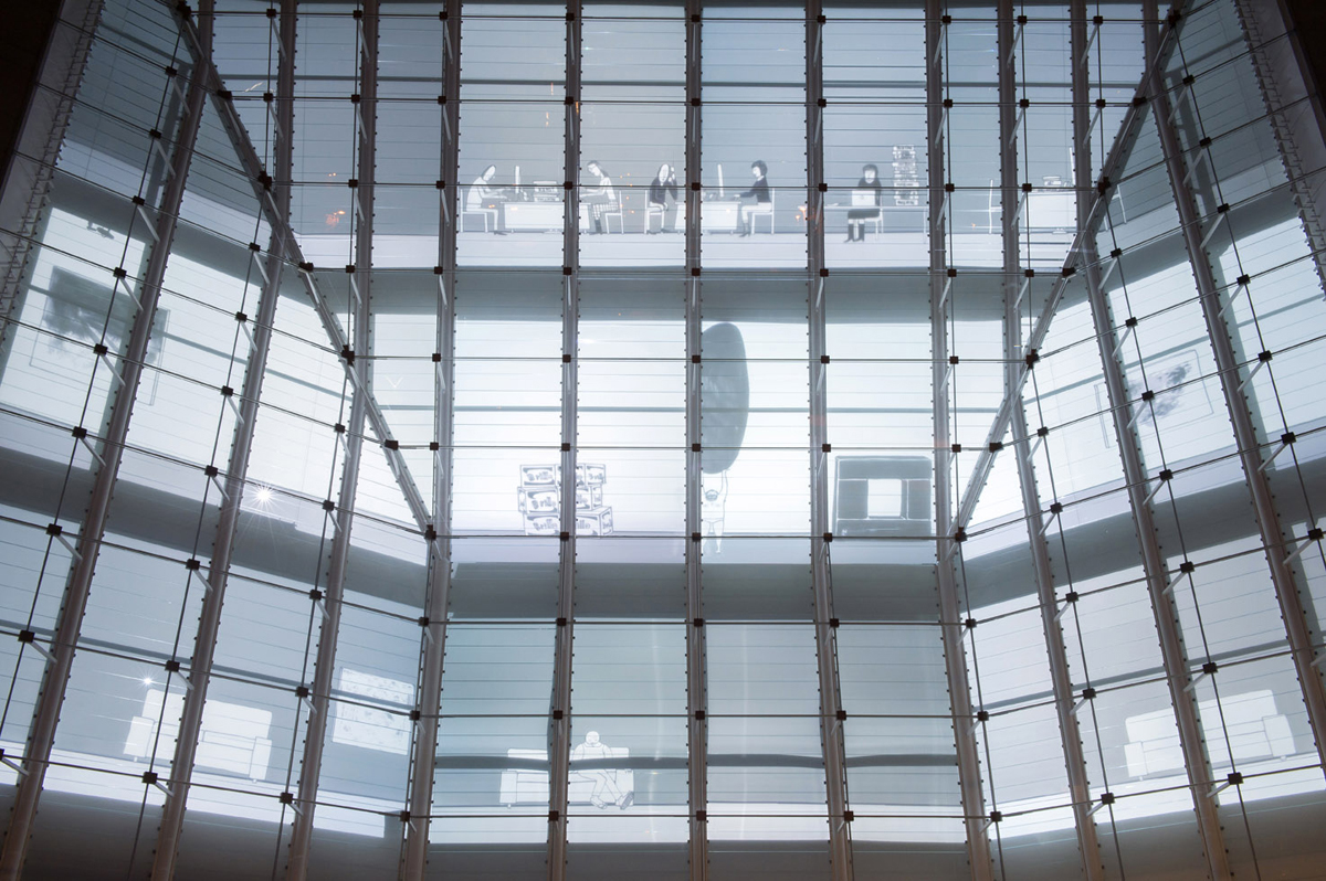 A Line describe a Surface. Cosa succede, 2013, exhibition view at Museion, Bolzano