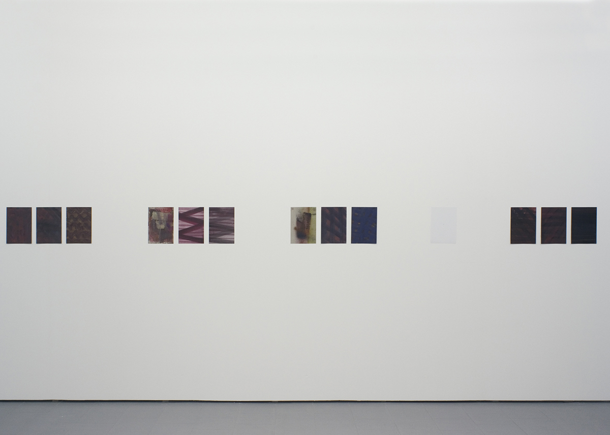 Untitled, 2011, oil paint and pigment on paper, cm 29x21 each