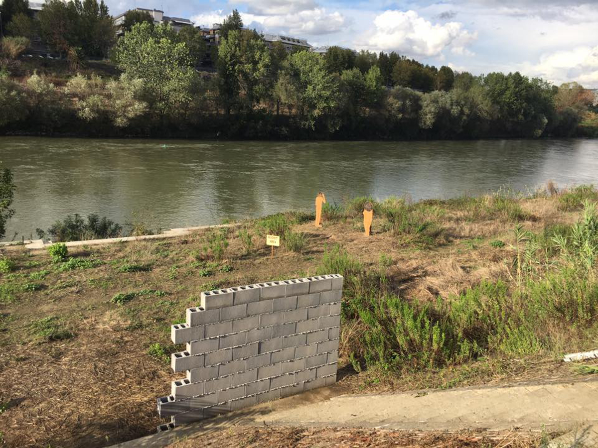 There is No Place Like Home, 2016, exhibition view at Approdo fluviale, Lungotevere San Paolo, Rome