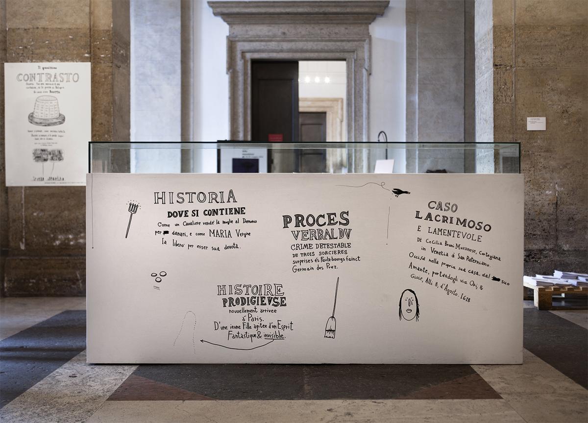 Due o tre cose che so di lei, 2014, curated by Claudio Libero Pisano, exhibition view at Villa Medici, Roma, I