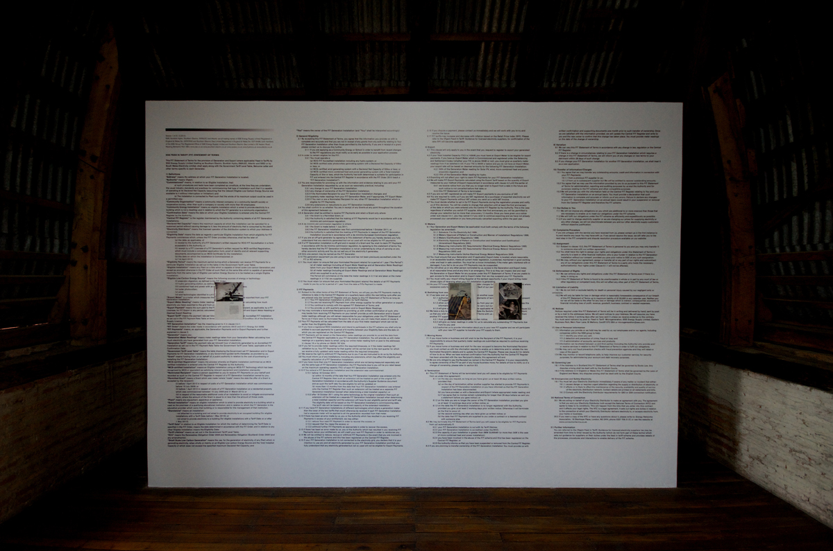 Terms of Use: FIT (Communal Options), 2014, exhibition view at Bienal de Cuenca, Ecuador