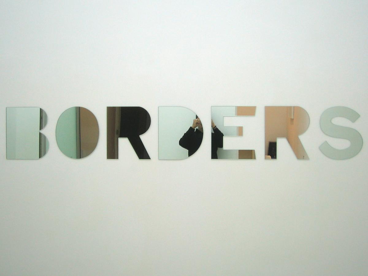 Borders, 2006, mirrors, cm 35 x 240