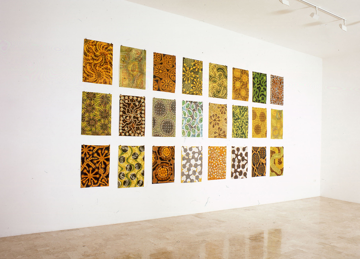 ri-impianto, 2004, acrylic on Chinese paper, cm 70 x 50 each