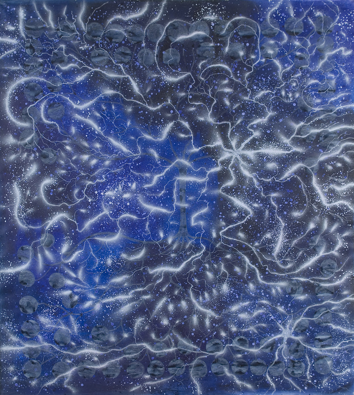 Sinestesia, 2007, acrylic on canvas, cm 220 x 200