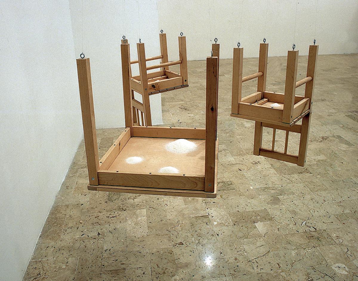 Casa Napoletana (zucchero), 2004, wood, nylon, sugar, cm 90 x 90 x 90