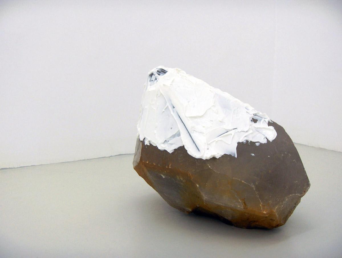 Sciuscià, 2006, quartz crystal, shoe polish