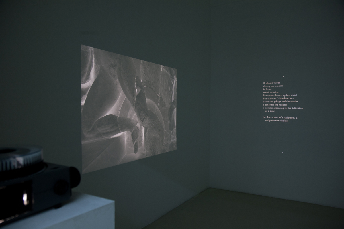 Barbarian Poems, 2011, detail, triple temporized projection