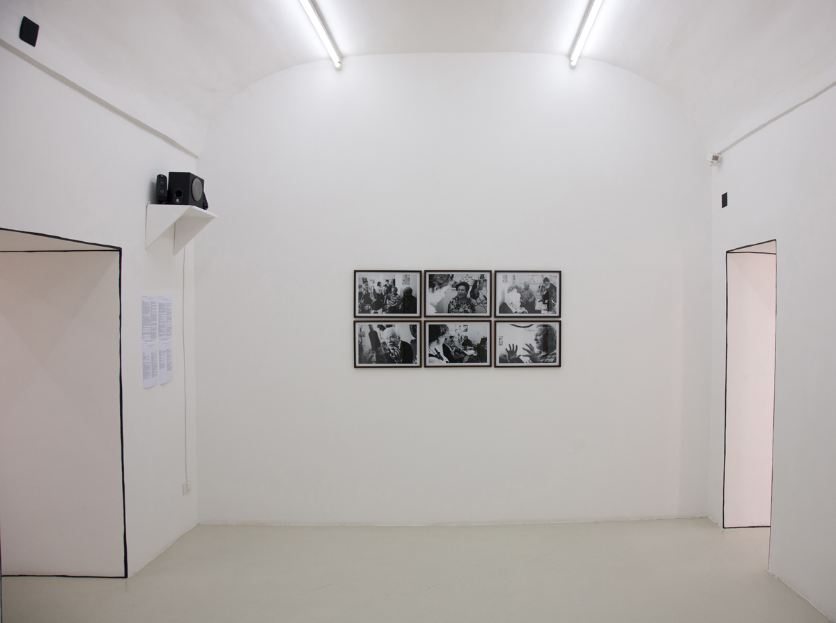 Marinella Senatore, Estman Radio Drama, 2011, sound, photo b/w, cm 45 x 30 each
