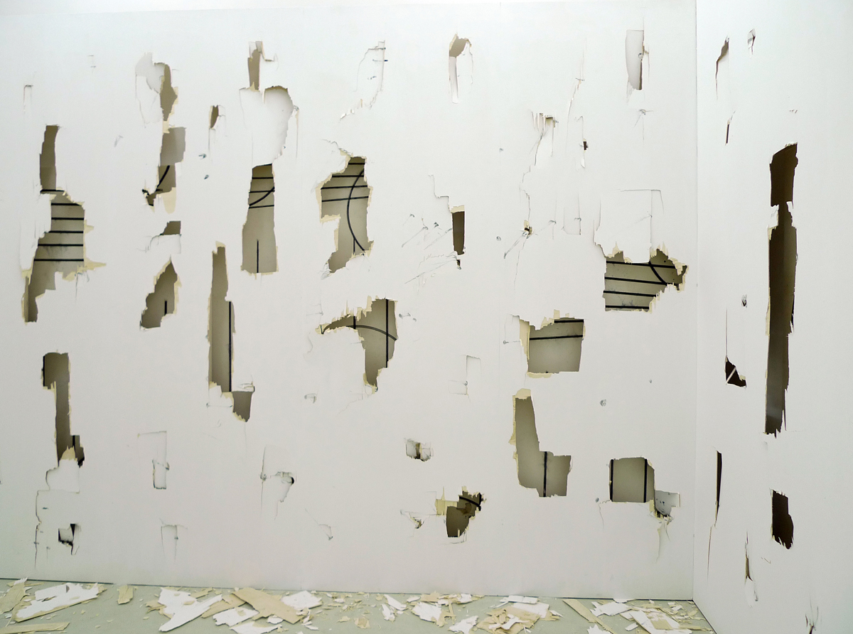 Screaming at a Wall, 2012, installation view