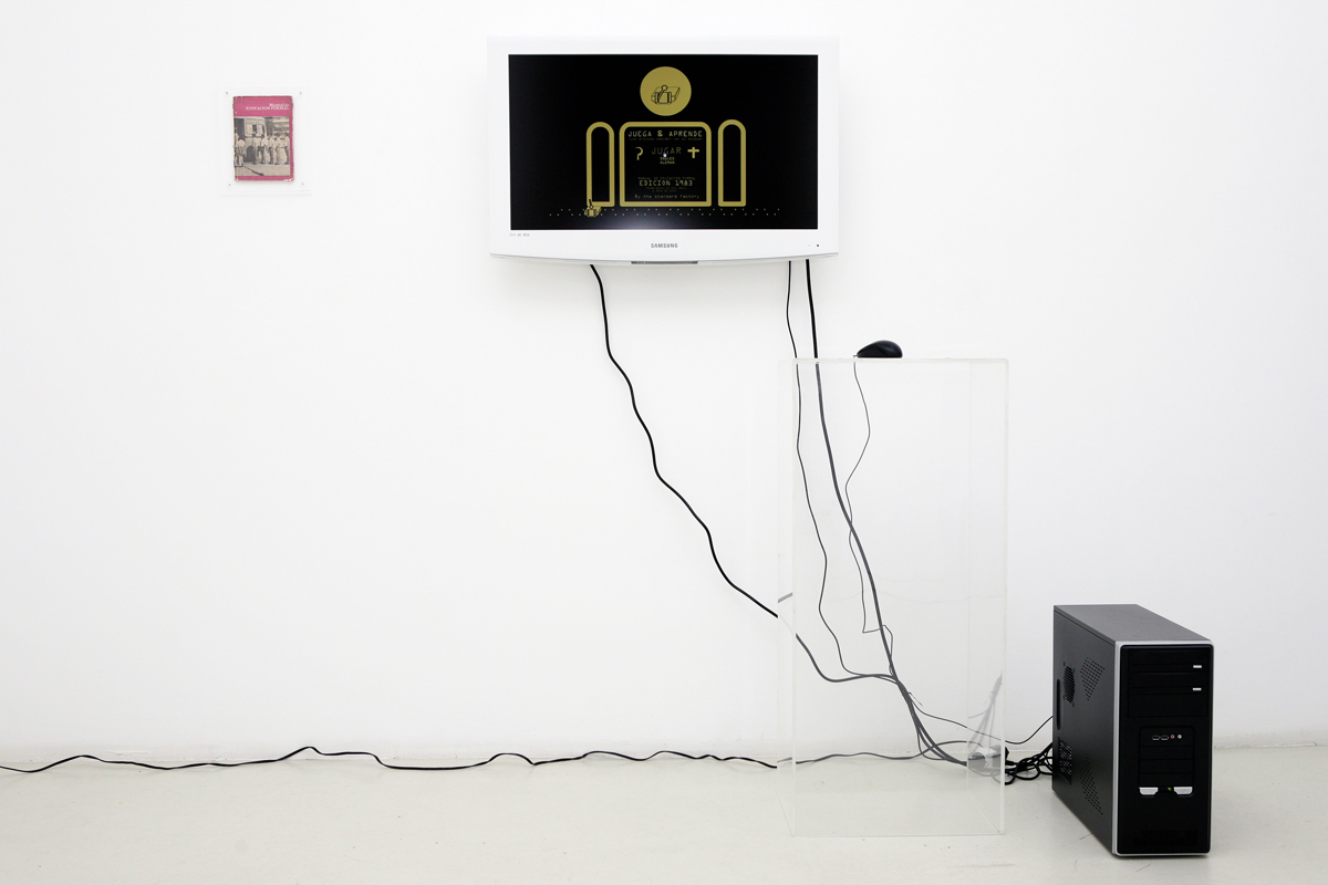 Rodolfo Peraza –Play and Learn 1.1 (the trees stop you from seeing wood), 2008