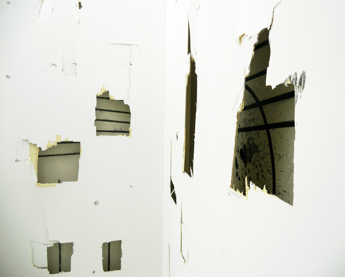 Screaming at a Wall, 2012, installation detail