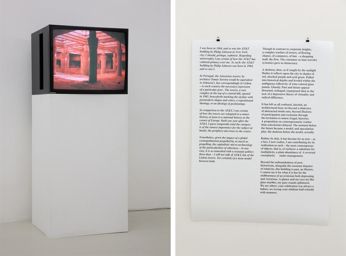 When's the end of celebration? 2011, video, 6', no sound, monitor, plinth, cm 120 x 90 print