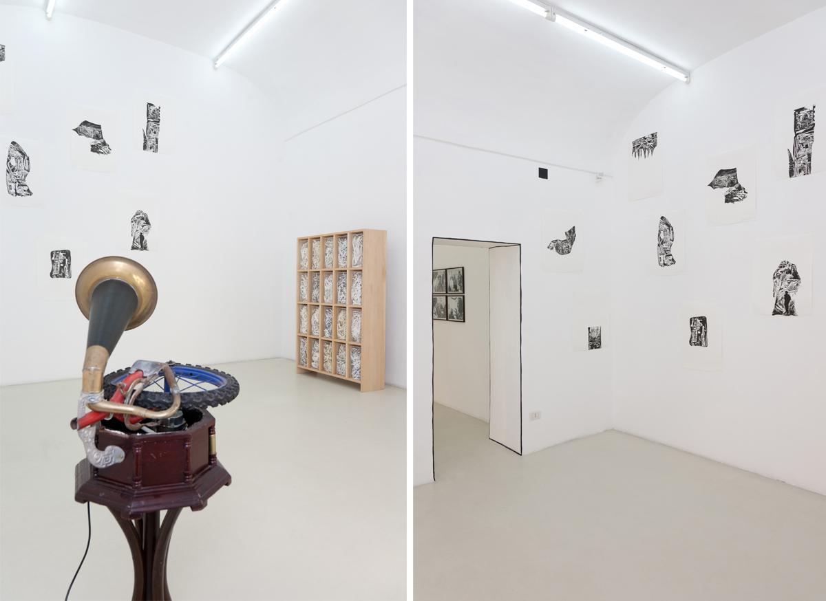 Eugenio Tibaldi, Santiago Cucullu, Jota Castro, exhibition view