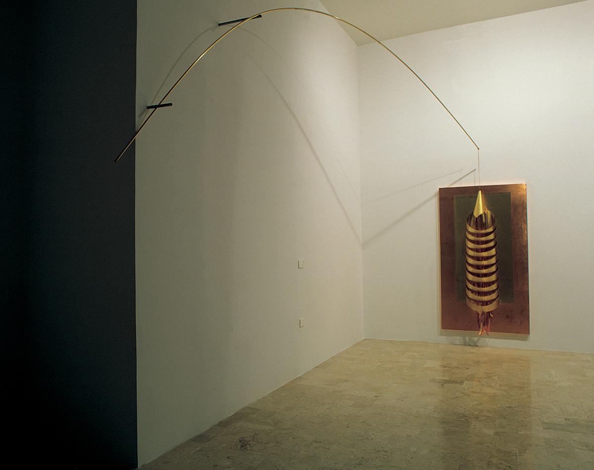 Hidetoshi Nagasawa, Visione di San Giovanni, 2002, copper, brass, cm 150x110x300