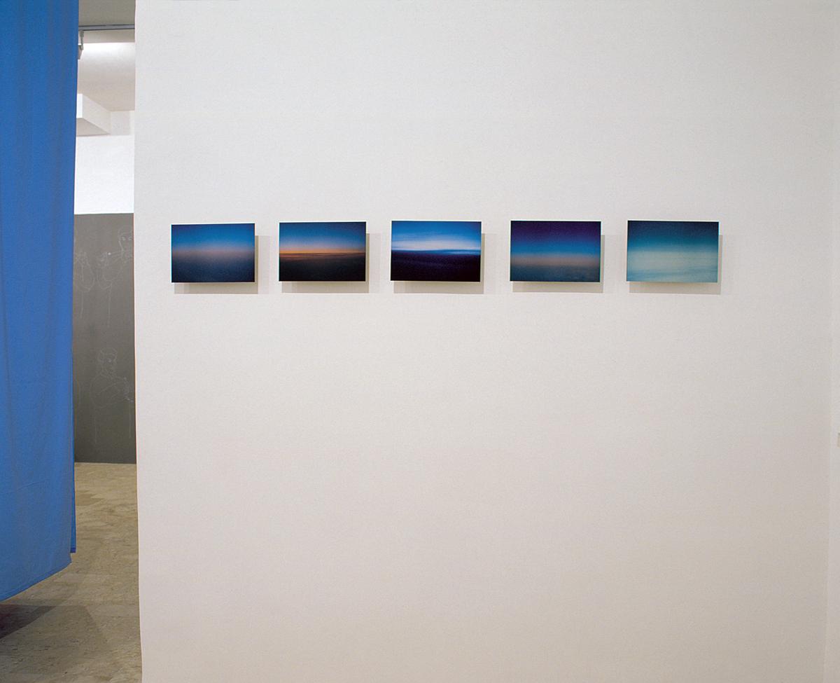 Satoshi Hirose, Horizon series, 2002,  ilfochrome on aluminum, cm 20x30 each