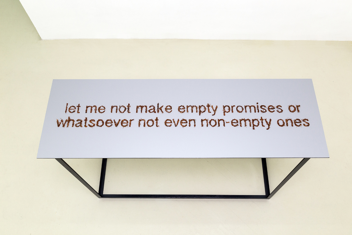 Let me not make empty promises or whatsoever not even non-empty ones, 2014
