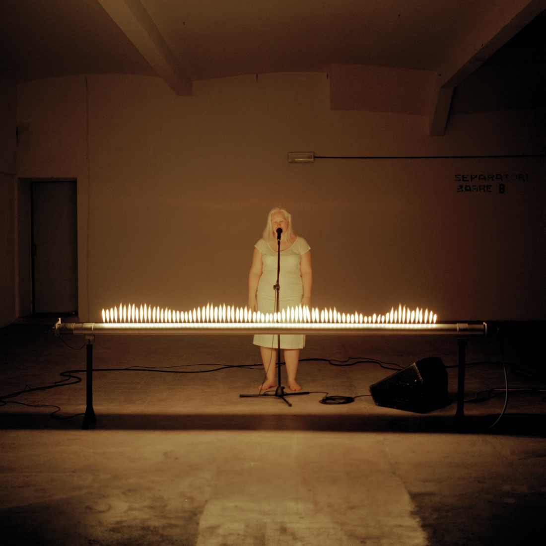Moth, 2009, performance at Centrale Fies, Trento, 15'
