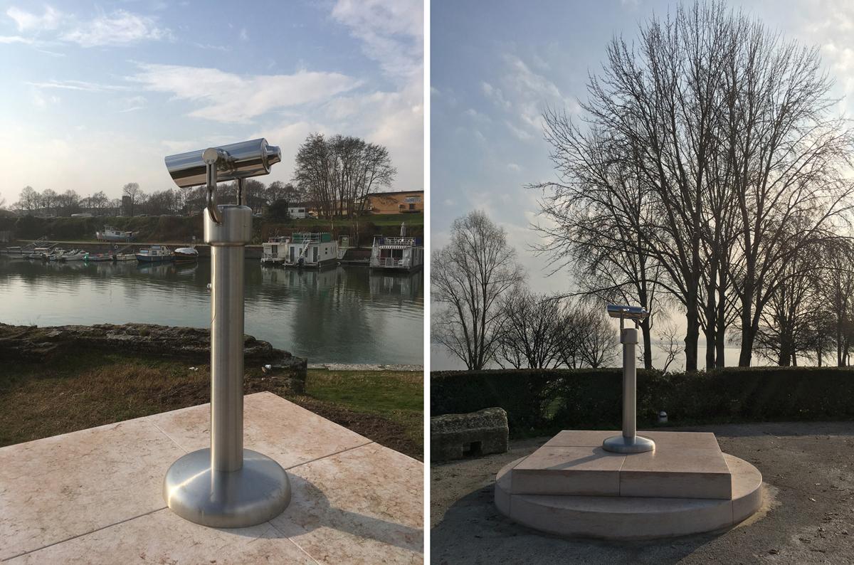 Borders, permanent installation for Mantova Italian Capital of Culture 2016