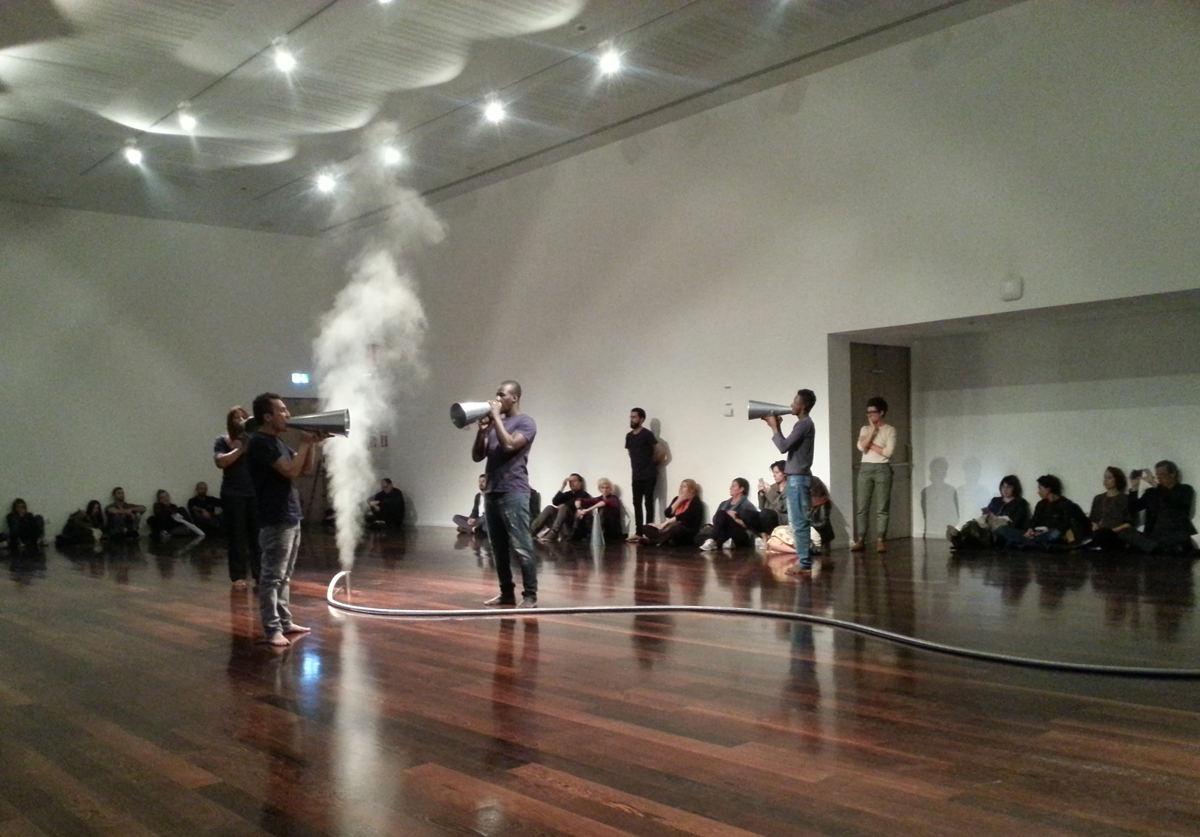 The forgetting of air, 2016, performance at Museo MAXXI, Roma