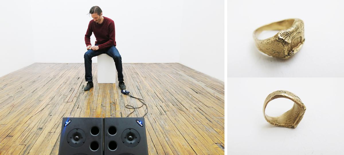 Ring,ring,ring, 2016, performance at ISCP, Brooklyn, NY