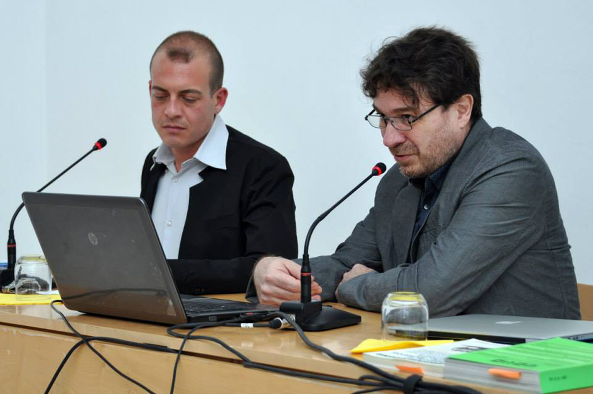 video screening and talk with Sergio Vega and Eugenio Viola at Museo Madre, Napoli — photo A.Marra