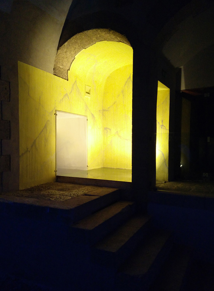 Particella di Dio, 2016, wall painting for Sant'Elmo