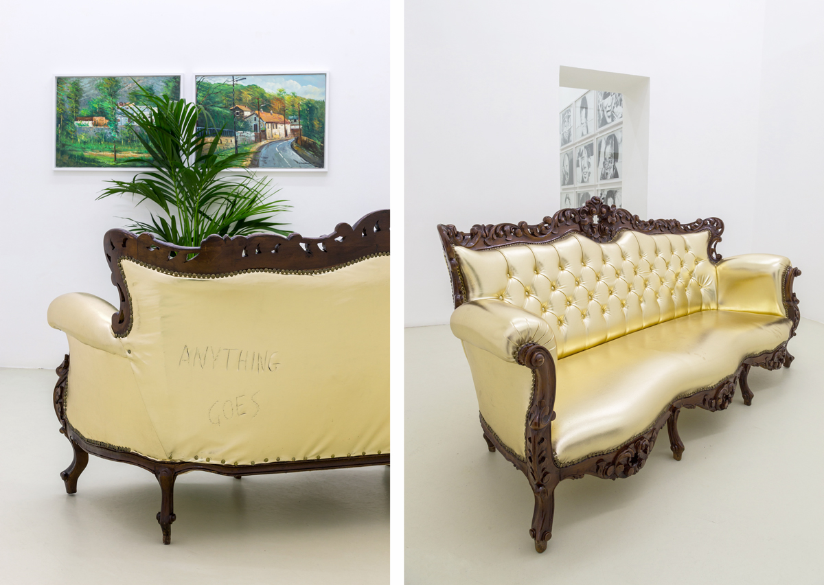 Anything Goes, 2008, sofa, neon, cm 190x90x85