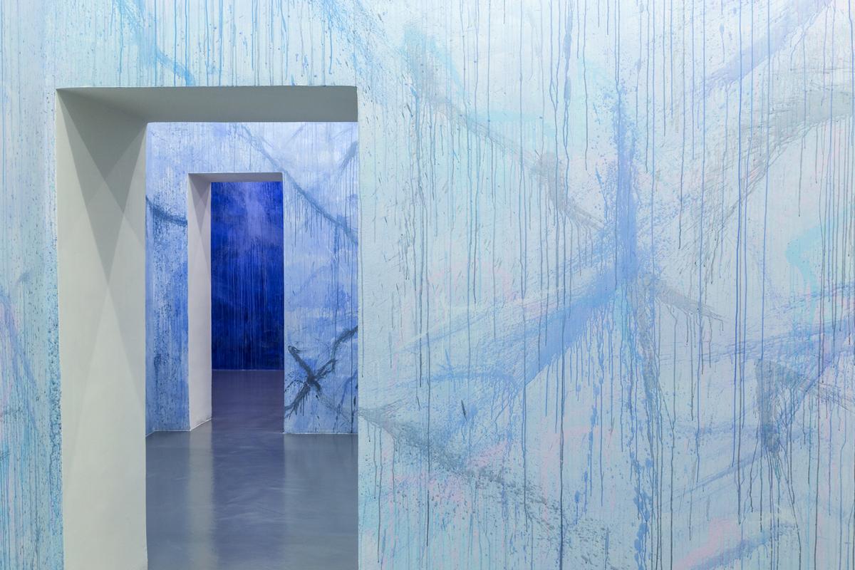 Corpo di luce, 2017, wall painting, var.dim