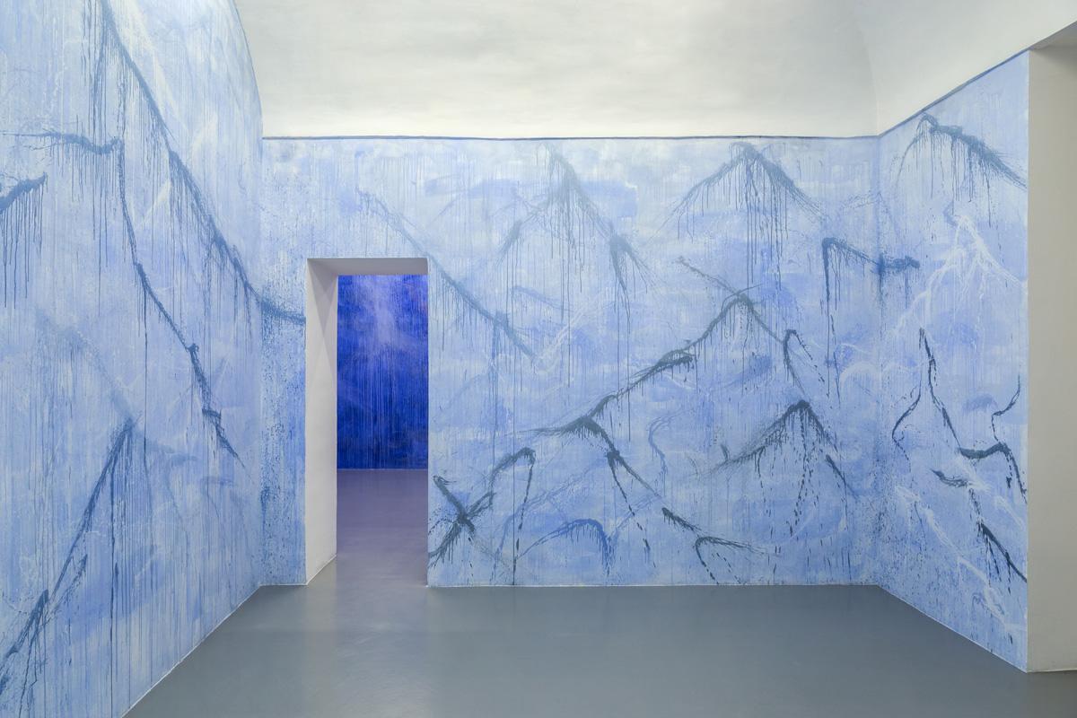 Paesaggi della mente, 2017, wall painting, var.dim